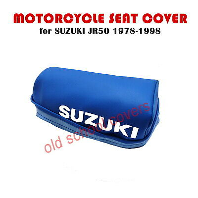 Suzuki Jr50 Jr 50 1978-1998  Blue Seat Cover With White Logo To Sides