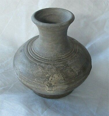 Antique Chinese China Han Dynasty Hu Vase Tomb Jar  Burial 206 BCE