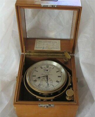 THOMAS MERCER Marine Chronometer 21 Jewels 5 Adjustments 56 Hour Working 1950
