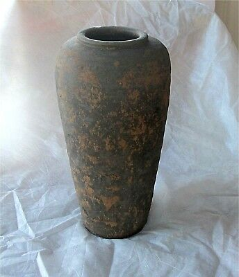 Antique Chinese Han Dynasty Original Hu Vase Tomb Jar Ash Glazed Burial 190 BCE