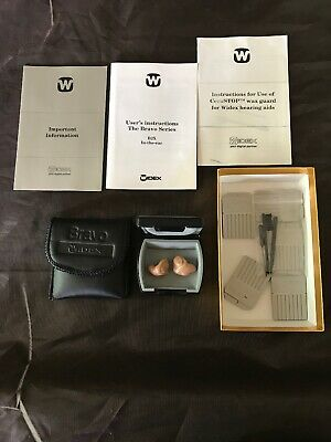 Set Of Widex Bravo B2X Hearing Aids W/Case,Tested, Made Denmark