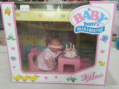 zapf creation mini baby born miniworld happy birthday boxed complete with doll