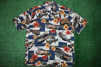 ba4cad9e KALAHEO USA WWII Warbirds Airplanes Bombers Button Hawaiian Shirt ...