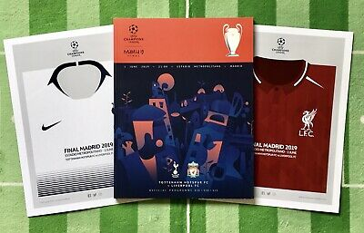2019 UEFA Champions League Final Programme Liverpool V Tottenham & Shirt Poster