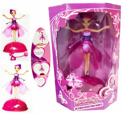 Flying  Fluttering Fairy Girls Toy Kids Doll Pink Wings Magical Xmas Gift
