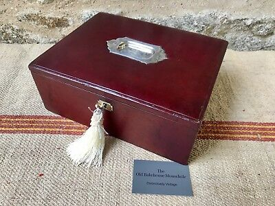 A 19th Century Red Leather Writing Sewing Box