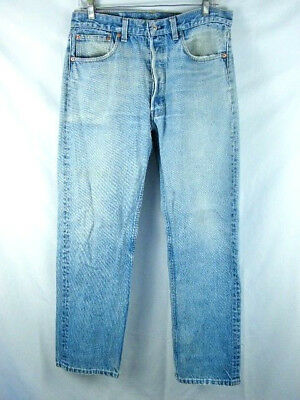 cfe17b7f Vintage USA Made Levi's 501 Button Fly Blue Jeans Men's size 34X32 actual  32X29
