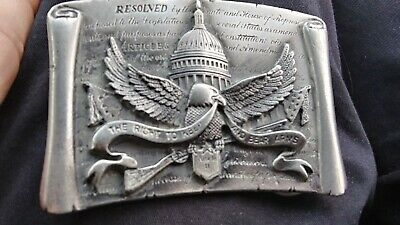 Rare UGE 1983 Tribute To The Strength Of The Second Amendment #155O Belt Buckle