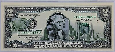 2003 Uncirculated $2 Two Dollar Bill TEXAS  50 State Overprint Series A