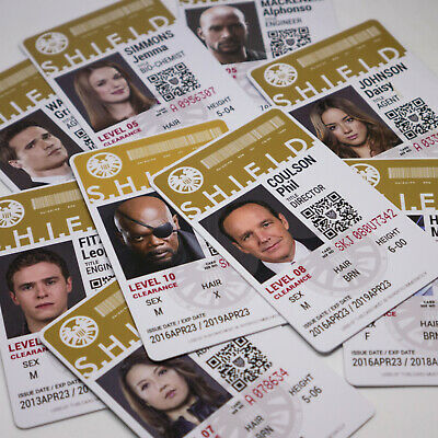 Marvel's Agents of SHIELD ID Card, Phil Coulson, Nick Fury, AVENGERS ID Badge