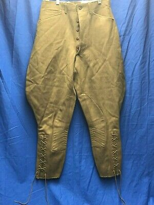 Vintage WWII US Army M1926 Wool Cavalry Riding Pants Breeches Trousers Uniform
