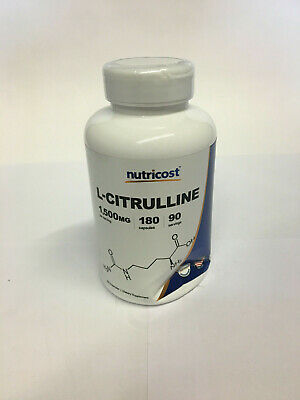 Nutricost L-Citrulline 750mg, 180 Capsules