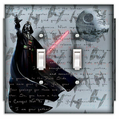 Darth Dark Side Decorative Double Toggle Light Switch Cover - Switch Plate Cover