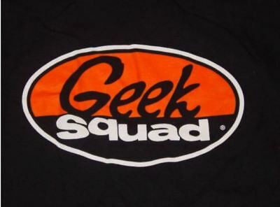 GEEK SQUAD  Best Buy computer techie Black Tee Shirt Short Sleeve Size XL
