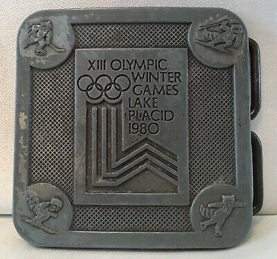 Vintage 1980 Xiii Olympic Winter Games Lake Placid Belt Buckle