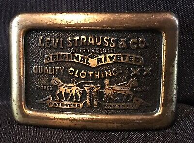 Levi Strauss & Co Original Riveted Quality Clothing Belt Buckle by Century Small