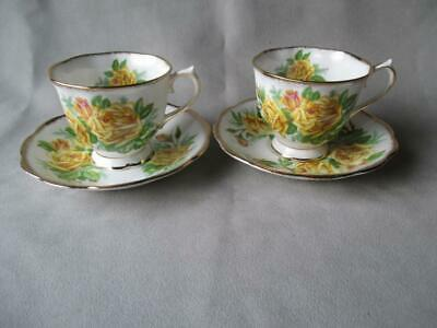 2 Royal Albert Tea Rose Cups & Saucers