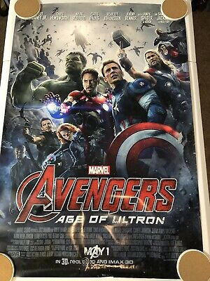 "AVENGERS AGE OF ULTRON Original Movie Poster 27"" X 40"" DS/Rolled - 2015 - MARVEL"