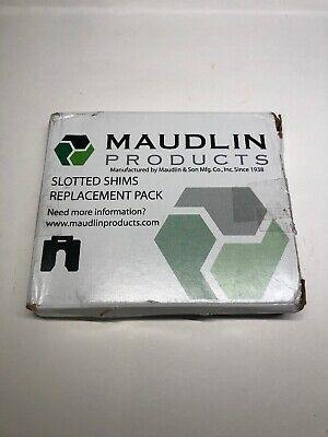 """MAUDLIN PRODUCTS MSC075-10 Slotted Shim C-4 x 4"""" x 0.075"""", Pk10"""