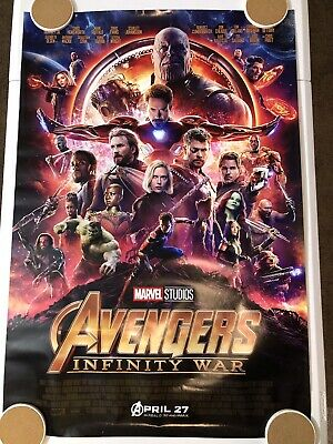 """AVENGERS INFINITY WAR Original Movie Poster 27"""" X 40"""" DS/Rolled - 2018 - MARVEL"""