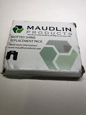"""MAUDLIN PRODUCTS MSC050-10 Slotted Shim C-4 x 4"""" x 0.050"""", Pk10"""