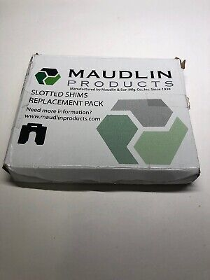 """MAUDLIN PRODUCTS MSC005-20 Slotted Shim C-4 x 4"""" x 0.005"""", Pk20"""