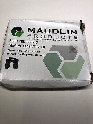 """MAUDLIN PRODUCTS MSC002-20 Slotted Shim C-4 x 4"""" x 0.002"""", Pk20"""