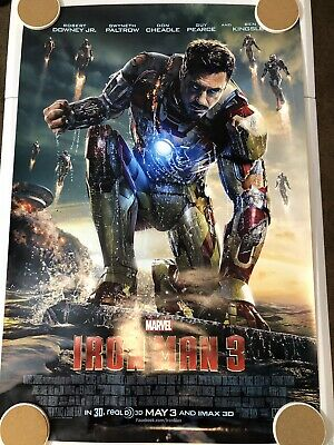 "IRON MAN 3 Original Movie Poster 27"" X 40"" DS/Rolled - 2013 - MARVEL"