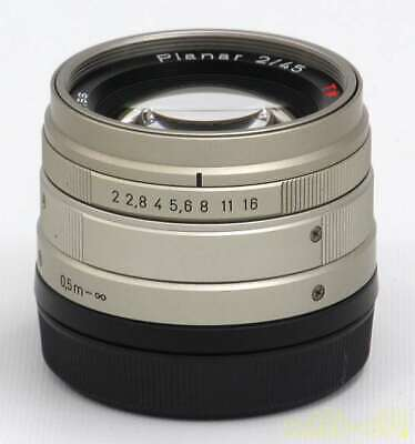 Contax Kyocera Carlzeiss Planar T 45mm F2 G Mount Lens