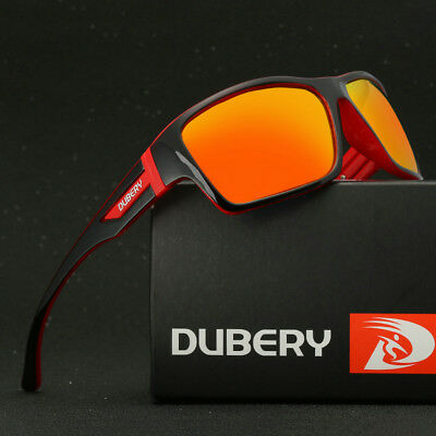DUBERY Polarized Sunglasses Square Cycling Outdoor Sport Driving Men UV400 New