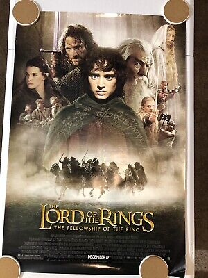 LORD OF THE RINGS FELLOWSHIP OF THE RING Original Movie Poster 27X40 DS/Rolled