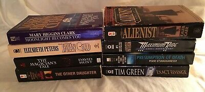 8 PB Suspense Novels: The Alienist, Magician's Tale, Other Daughter, Trojan Gold