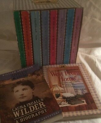 Laura Ingalls Wilder Little House Prairie Boxed Set + West From Home + Biography