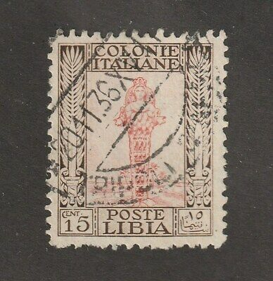 Libya stamp #52a, used, very clean, perf. 11, light Tripoli cancellation, CV $45