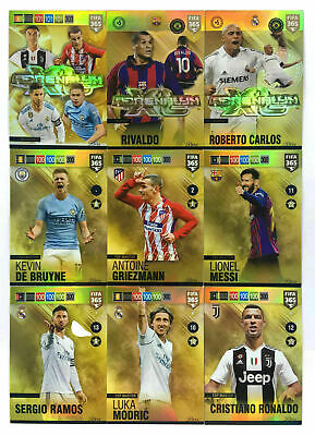 Panini Adrenalyn XL FIFA 365 2019 RARE SET Top Master Messi C Ronaldo Modric