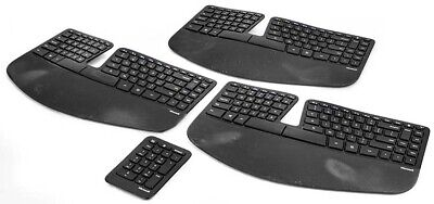 b8417b874dc Lot of 3 Microsoft 1559 Sculpt Split Keyboard Layout Wireless Ergonomic  Keyboard