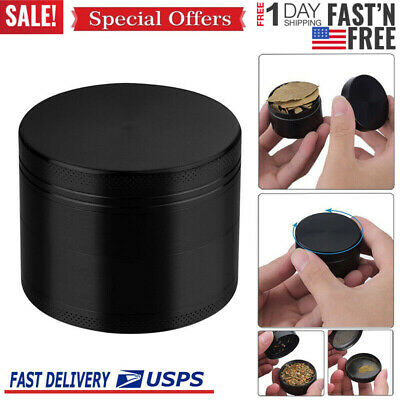 4-Layers Herb Grinder Spice Tobacco/Weed Smoke Metal Alloy Crusher Leaf Design