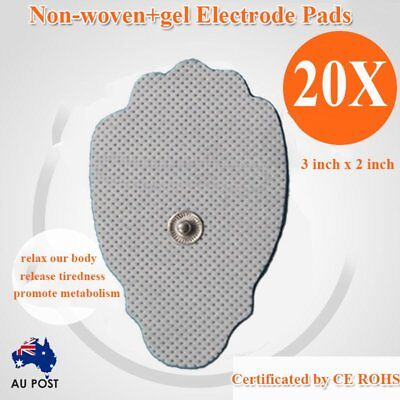 20PCS/SET Snap On Electrode Pads For Digital Tens/EMS Machines Replacement AU