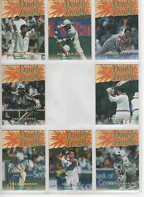 1996 High Velocity Cricket - Double Trouble Insert Set Complete #1-8