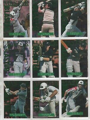 1996 High Velocity Cricket - Master Blaster Insert Set Complete #1-9