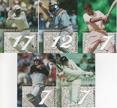 1996 High Velocity Cricket - Centurions Insert Set Complete #1-5
