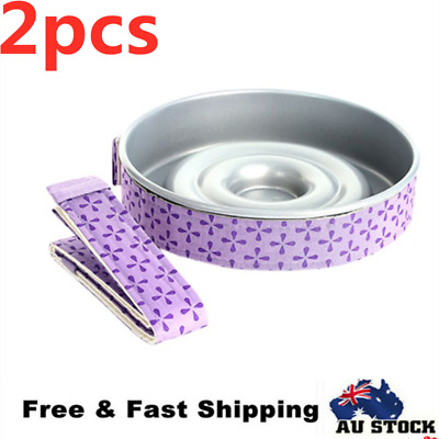 2pcs Cake Pan Strip Even Belt Cake Baking Tool Moist Level Protect Hot Grill AU