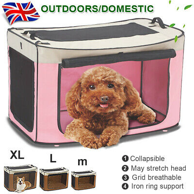 Pet Carrier Dog Cat Puppy Soft Fabric Folding Cage Car Seat Travel Crate Bag Box