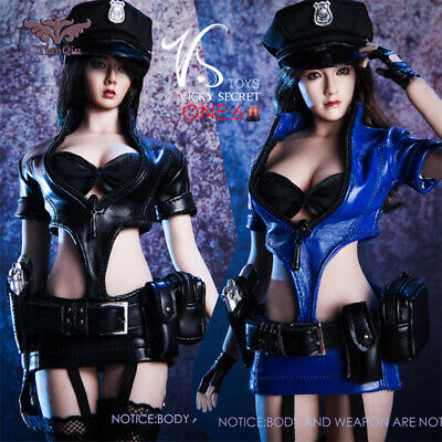 "1/6 Sexy Police Woman Uniform Set BLUE For 12"" PHICEN TBL Hot Toys Figure"