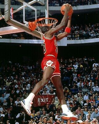 Michael Jordan 1988 Slam Dunk Contest Chicago Bulls - 8X10 Sports Photo (Ww057)