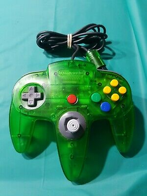 Nintendo 64 Jungle Green clear controller - Original toggle - vgc - genuine