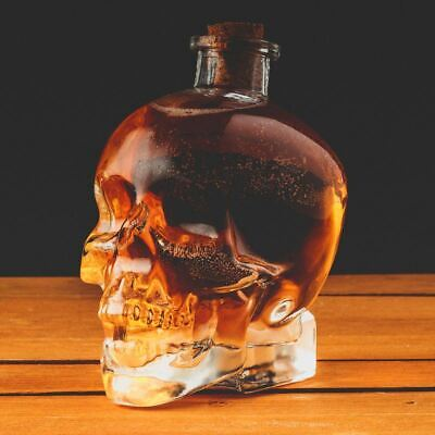750ml Skull Drink Decanter Glass Jug Jar Water Cocktail Juice Punch Fun Party
