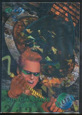 1995 Batman Forever Metal Trading Card #44 Which Came First