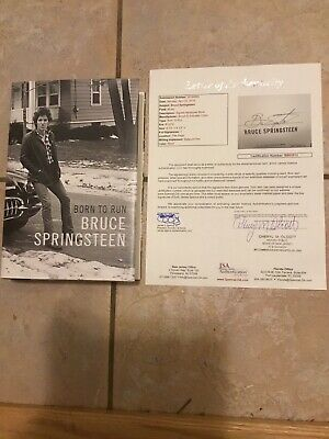 Bruce Springsteen Signed First Edition Born To Run Book JSA COA/LOA
