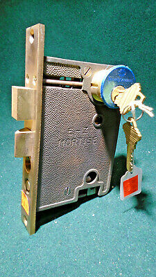 E-Z MORTISE ENTRY LOCK w/KEYED CYLINDER for THUMB HANDLES!!    NICE!  (9160)